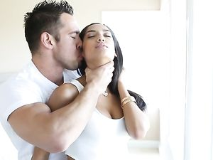 Her Wet Shaved Pussy Filled With His Big Hard Dick