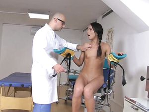 Big Cock Doctor Ass Fucks A Skinny Teen Patient