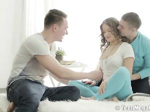 Teen Shared Erotically By Two Horny Guys