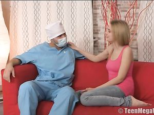 Teen Blows The Doctor On A Naughty Home Visit