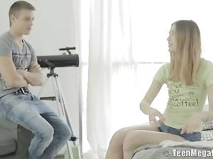 Lingerie Modeling Teen Wants Dick Up Her Ass