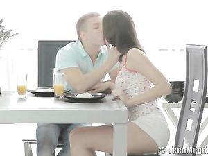 Anal Sex After Breakfast With His Teen GF