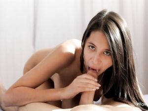 Tight Shaved Twat Of A Beautiful Teen Fucked