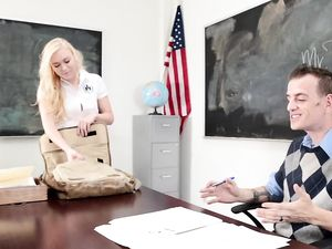 Plaid Skirt Student And A Teacher Fucking In Class