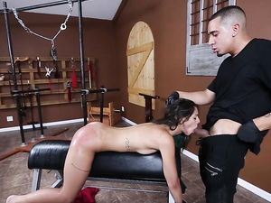 Latina Bound In His Dungeon Fucked From Behind