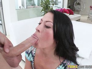 Smoking Hot Teen Gets On Top To Ride A Big Cock