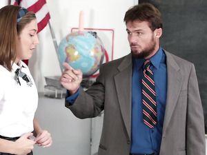 Thick Teacher Dick Fucks A Slutty Schoolgirl