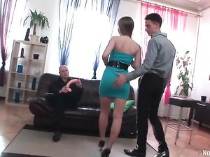 Slut Follows Him Home For A Great Double Penetration