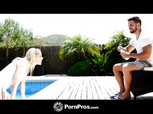 Sunny Day Hardcore Sex With A Blonde Babe Poolside