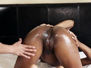 Busting His Nut On A Slutty Black Hardcore Slut