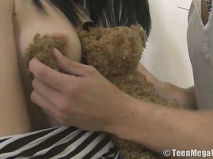 Hot Teen Hardcore With An Innocent Brunette Chick