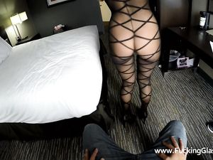 Slut Changes Into Lingerie For POV Fucking