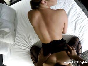 Slut Changes Into Lingerie For POV Fucking