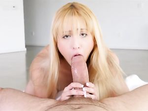 Petite Masturbating Teen Prefers A Big Dick Inside Her