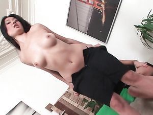 Slutty Asian Lesbians Have Hot Doggystyle Strapon Sex