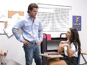 Sexy Student In Knee Highs Fucks Her Horny Teacher