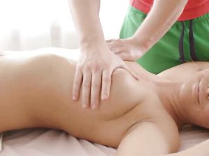 Busty Babe On The Massage Table Needs Good Dick