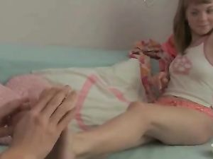 Foot Massage And Fucking With A Totally Cute Teen