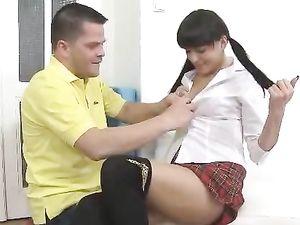 Naughty Schoolgirl Slut Needs Big Dick In Her Pussy