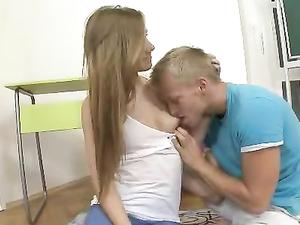 Sucking Teen Titties And Fucking Her Sideways