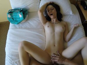 Gorgeous Pale Babe Gets Filmed In A Pov While Moaning