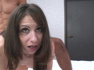 Creampie For A Brunette Hottie After Hot Sex