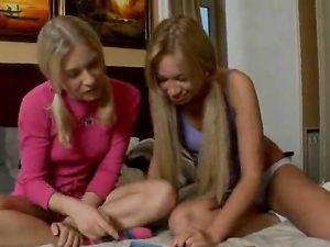 European Blondes Getting A Massage Before Sucking