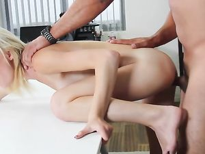 Big Messy Facial For A Tiny Pornstar Slut