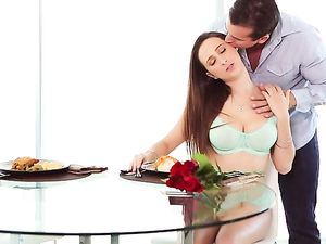 Sensual Valentines Day Sex With A Buxom Brunette