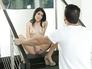 Kira Adams Teases Him Into The House And Her Wet Cunt