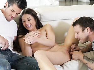 First Time Threesome For Flexible Sweetheart Lucy Doll