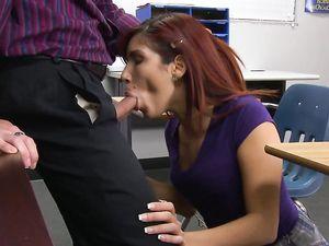 Leah Cortez Blows Her Teacher To Get An A