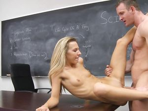 Teacher Nails The Skinny Teenager Hard In His Class