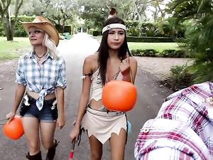 Halloween Hardcore Fuck For A Petite Latina Girl