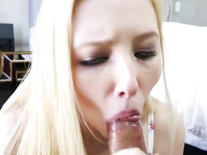 Pure And Pretty Blonde Gobbling Knob In Sexy POV