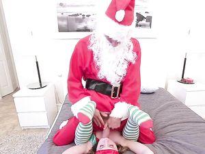 Santa Stuffs His Big Dick Into A Petite Elf