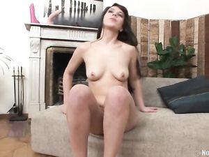 Perky Tits Solo Teen Slut Fucking A Massive Dildo