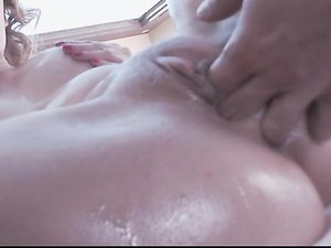 Fully Lubed Babe Fucked In Her Slippery Asshole