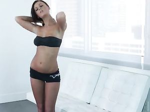 Sporty Babe With A Back Tattoo Gets Fucked Doggystyle