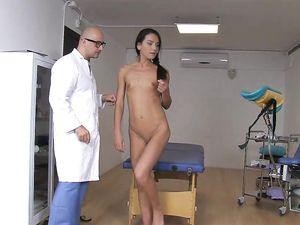 Big Cock Doctor Ass Fucks A Skinny Teen Patient