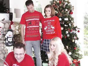 Cute Tight Stepsister Riley Mae Gets Dicked For Christmas