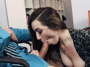 Young Sexy Secretary Isn't Wearing Panties Today. Omg!