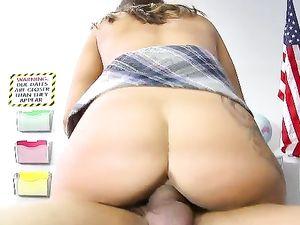Curvy Schoolgirl Has Hardcore Sex After Class